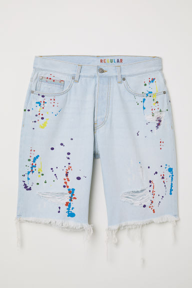 Jeansshort - Regular fit - Licht denimblauw - HEREN | H&M BE