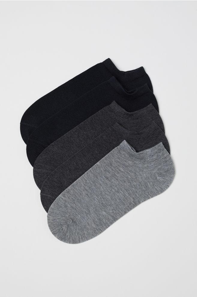 08ea9203d 5 Pack Trainer Socks Black Grey Ladies H M In
