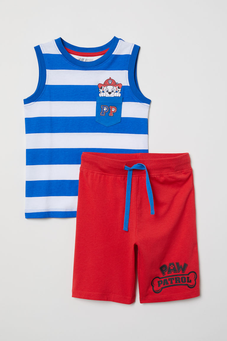 Vest top and shorts - Blue/Paw Patrol - Kids | H&M