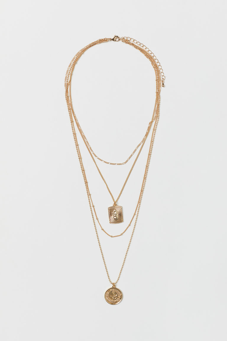 Multi-strand necklace - Gold-coloured - Ladies | H&M IE