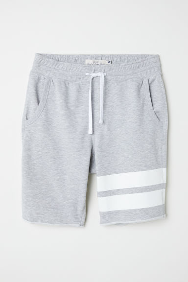 Knee-length sweatshirt shorts - Light grey marl - Men | H&M CN