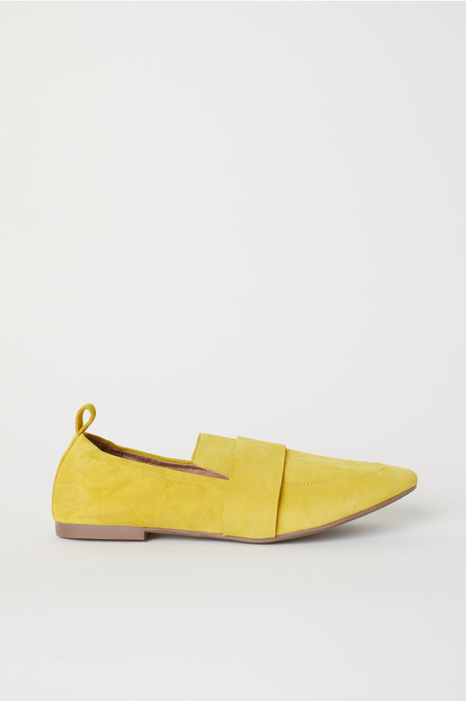 5f5d74a84e3 Loafers - Yellow suede - Ladies