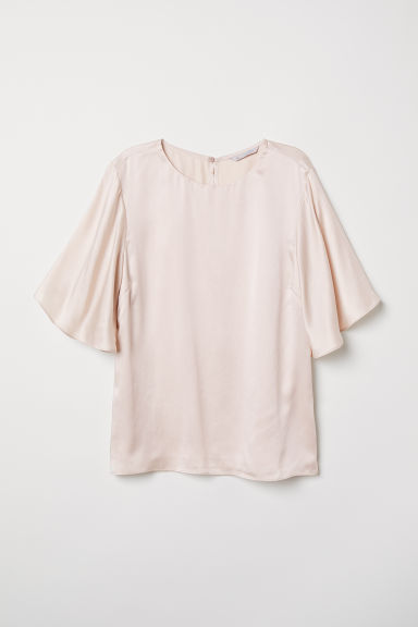 Silk blouse - Powder pink -  | H&M CN