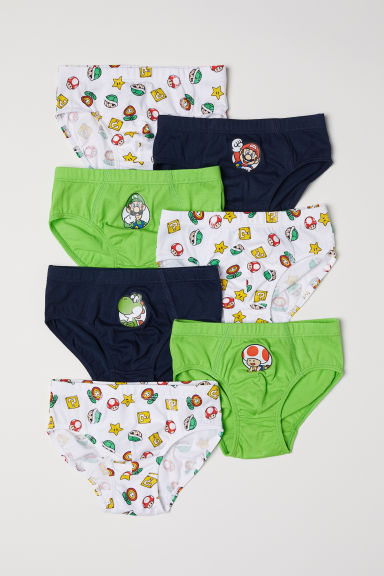 7-pack boys' briefs - Bright green/Super Mario - Kids | H&M CN