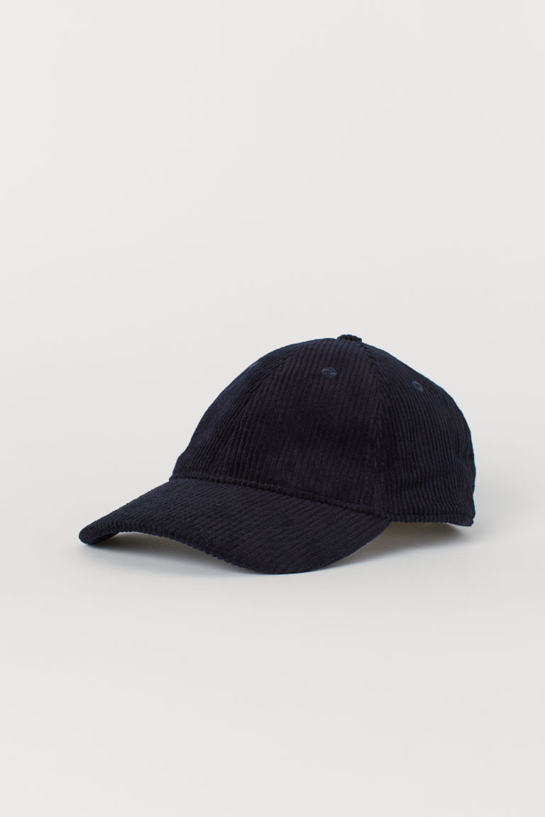 Corduroy cap - Dark blue - Men | H&M CN