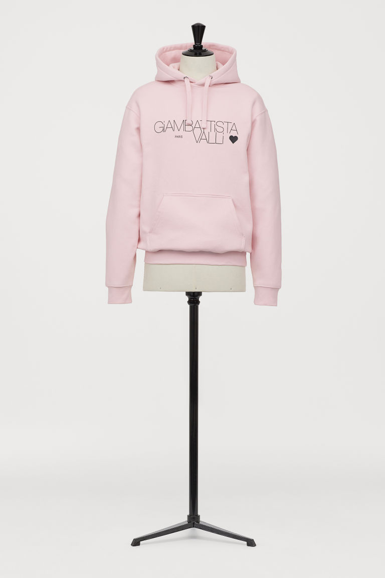 Printed hooded top - Light pink - Men | H&M
