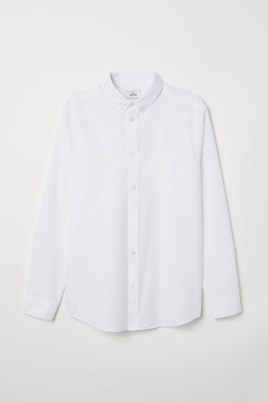 Oxford cotton shirt - White - Men | H&M