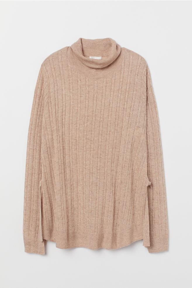 102ff0018a ... MAMA Knit Nursing Sweater - Beige melange - Ladies