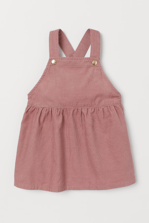 Corduroy dungaree dress