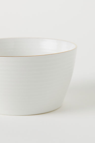 Textured bowl - White - Home All | H&M CN