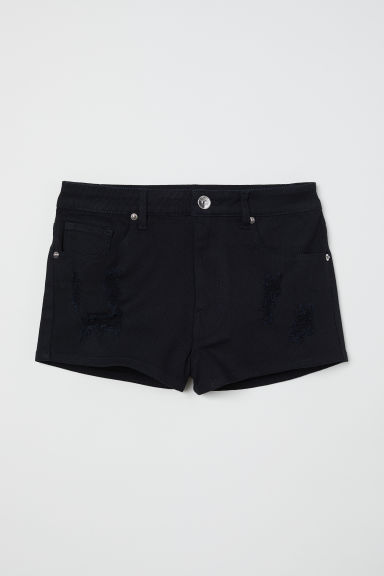 Twill shorts High Waist - Black - Ladies | H&M