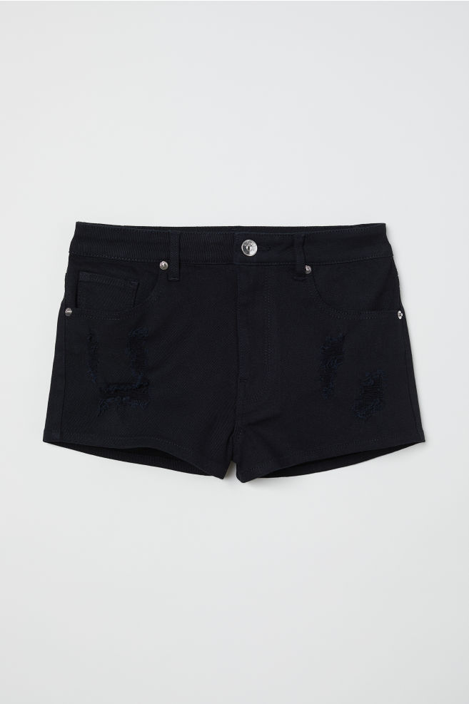 a5930fc7a09f Twill Shorts High Waist - Black - | H&M ...