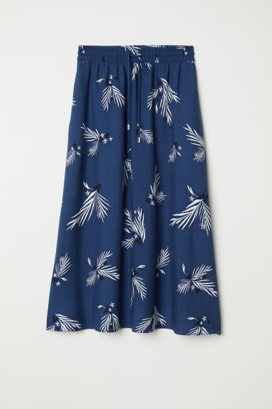 Calf-length skirt - Dark blue/Patterned - Ladies | H&M