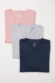 3-pack T-shirts Regular fitModel
