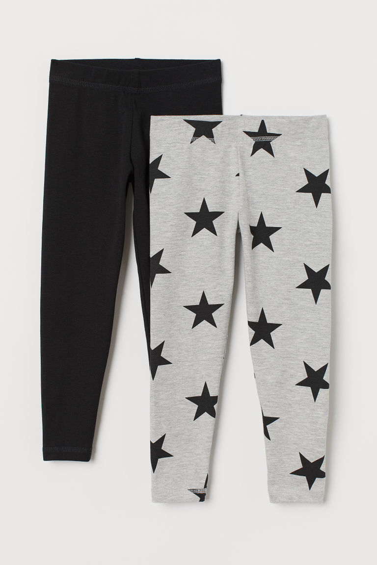 2-pack leggings - Black/Stars - Kids | H&M