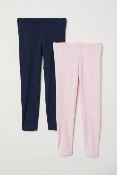 2-pack leggings - Dark blue - Kids | H&M CN
