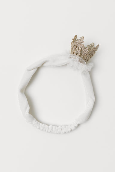 Hairband with an appliqué - White/Crown - Kids | H&M