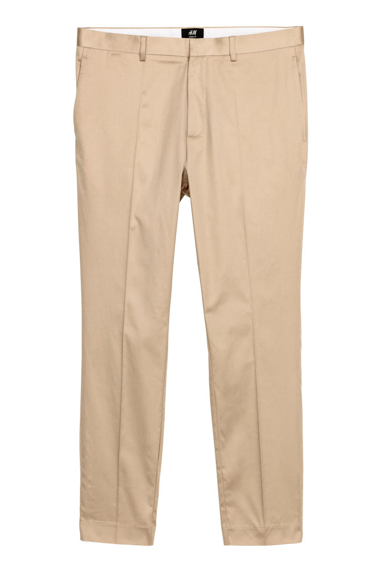 Pantaloni completo Skinny fit - Beige - UOMO | H&M IT