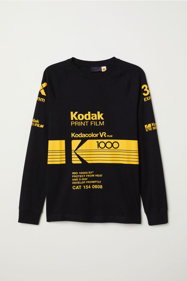 a895da73d Tričko s potlačou - čierna/Kodak - MUŽI | H&M ...