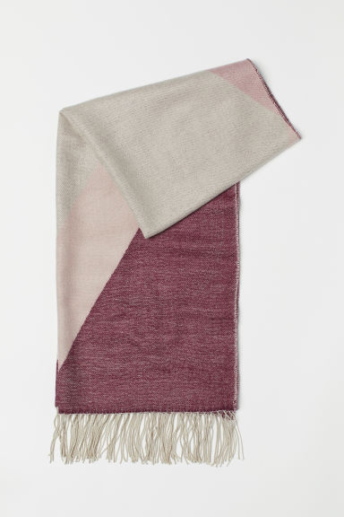 Sciarpa in tessuto jacquard - Bordeaux/fantasia -  | H&M IT