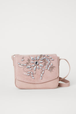 Shoulder Bag With Rhinestones