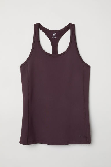 Canotta sportiva - Viola scuro -  | H&M IT