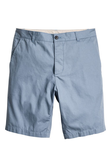 Knee-length cotton shorts - Pigeon blue -  | H&M