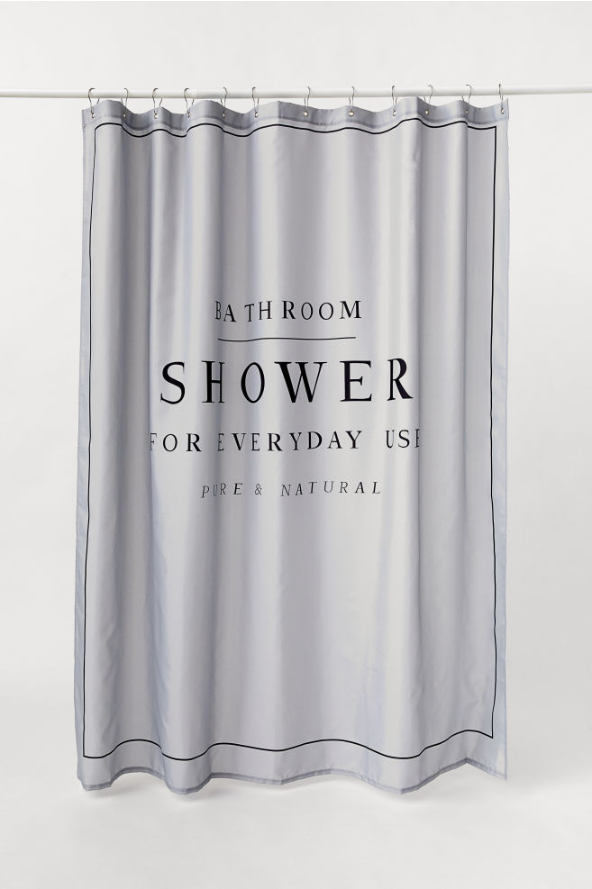 Text Print Shower Curtain