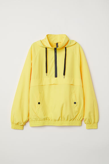 Hooded popover jacket - Yellow - Ladies | H&M