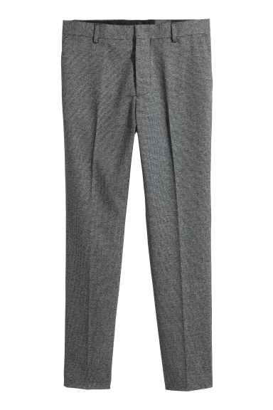 Marled suit trousers Slim fit - Grey marl - Men | H&M