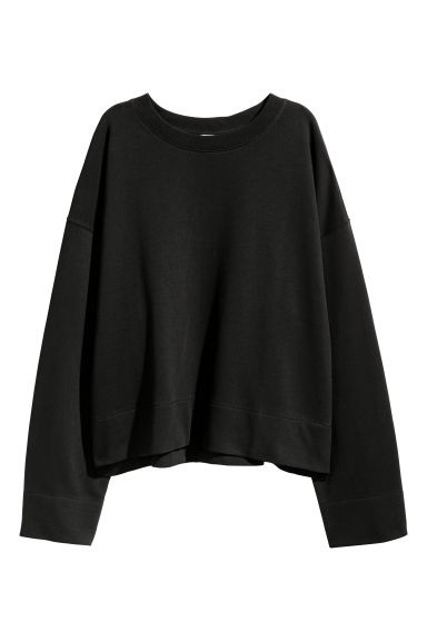 Wide cotton top - Black -  | H&M GB