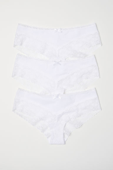 3-pack cotton hipster briefs - White - Ladies | H&M