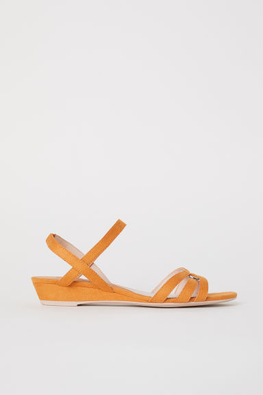 Wedge-heel sandals - Dark yellow - Ladies | H&M