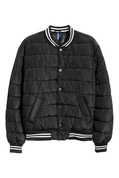 Padded baseball jacket - Black -  | H&M