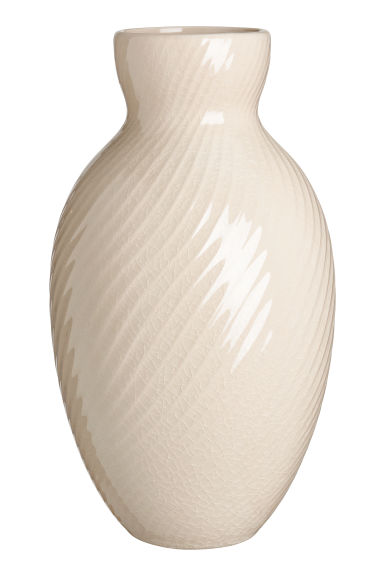 Large ceramic vase - Beige -  | H&M GB