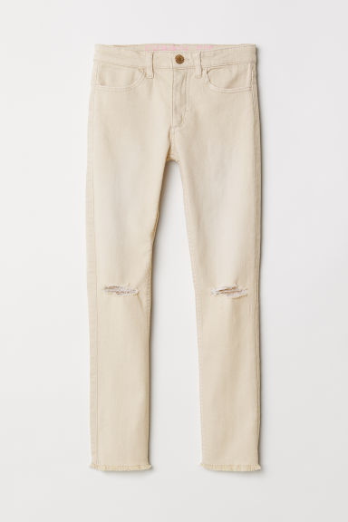 Superstretch trousers - Light beige - Kids | H&M