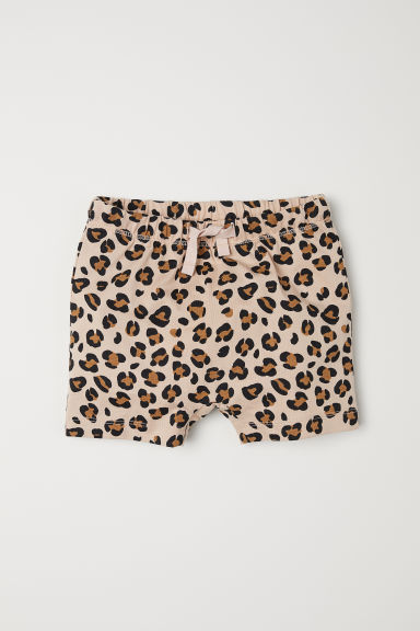 Shorts in jersey - Beige/leopardato -  | H&M IT