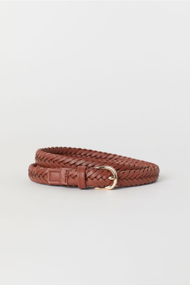 f29cff10bf6a7 Braided belt - Brown - Ladies