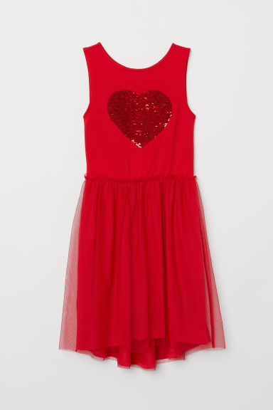 Dress with sequins - Red - Kids | H&M