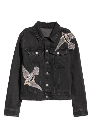 H&M+ Denim jack - Zwart/washed out -  | H&M NL