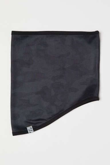 Fleece tube scarf - Dark grey/Patterned - Men | H&M