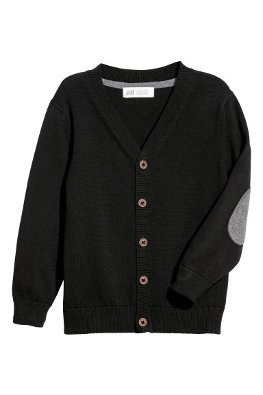 Fine-knit cardigan - Black - Kids | H&M