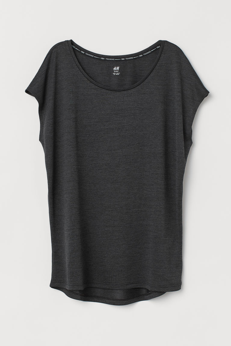 Sports top - Black marl - Ladies | H&M GB