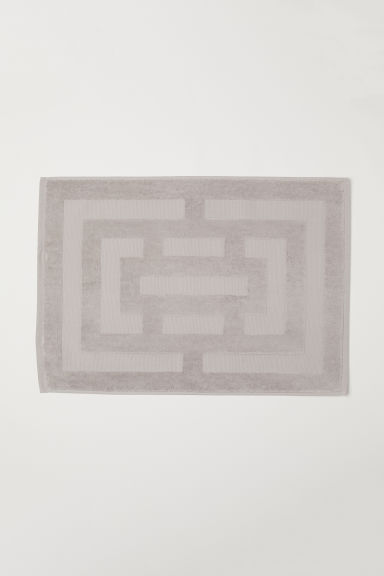 Tapis de bain jacquard - Taupe clair - Home All | H&M FR