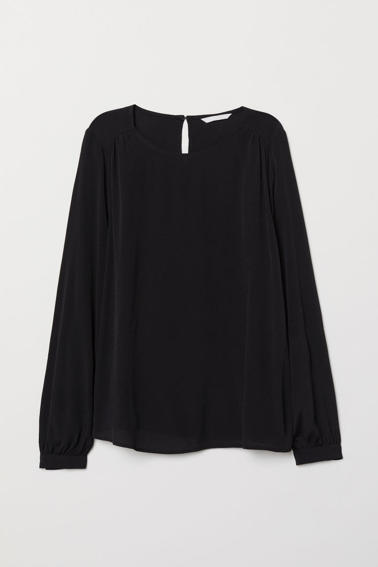 Camicetta increspata - Nero - DONNA | H&M IT