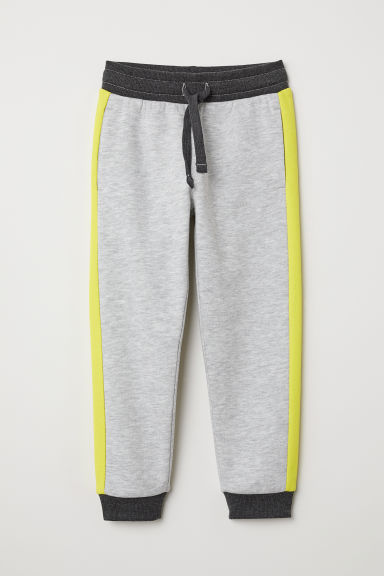 Joggers - Grey marl/yellow - Kids | H&M
