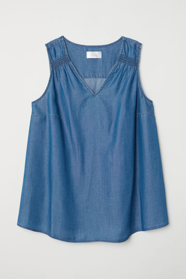 MAMA Top in denim di lyocell - Blu denim - DONNA | H&M IT