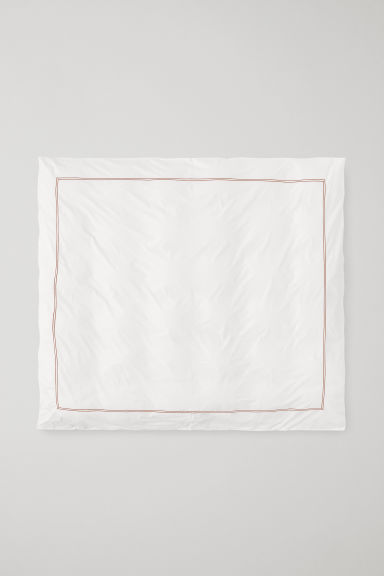 Cotton percale duvet cover - White/Brown - Home All | H&M IE