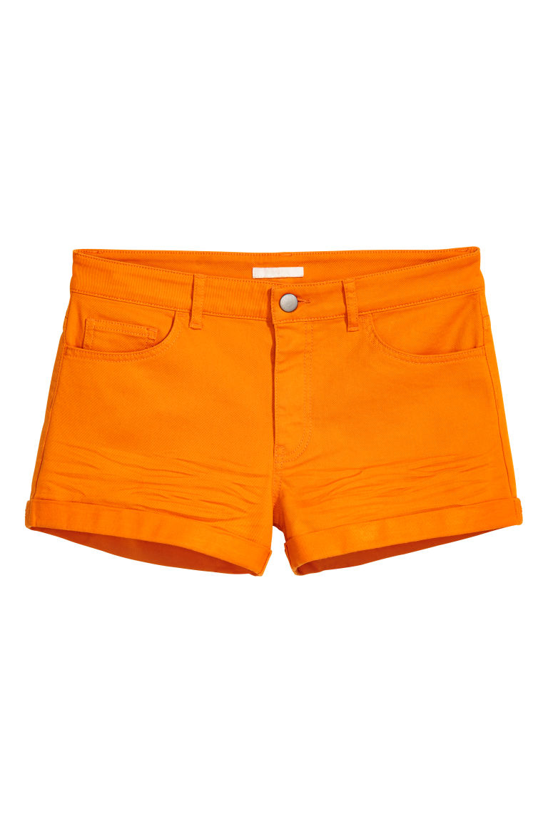 Short twill shorts - Orange - Ladies | H&M CN