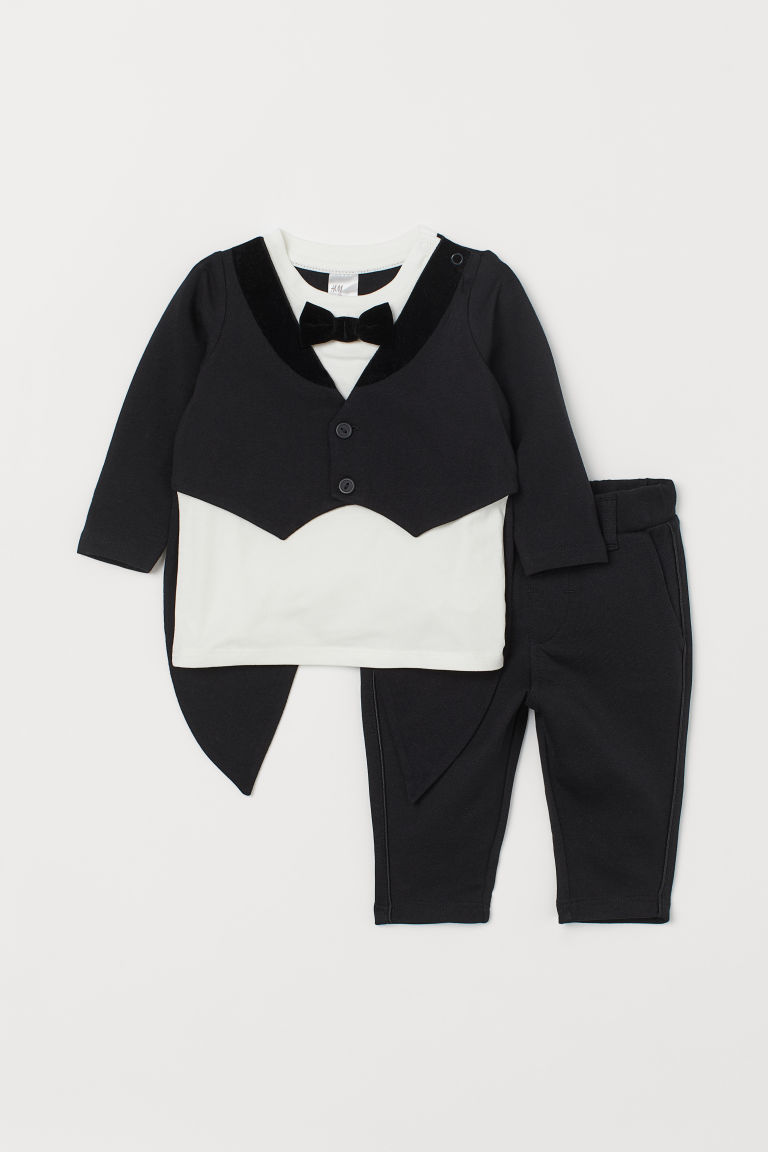 Queue-de-pie en jersey - Noir - ENFANT | H&M CA